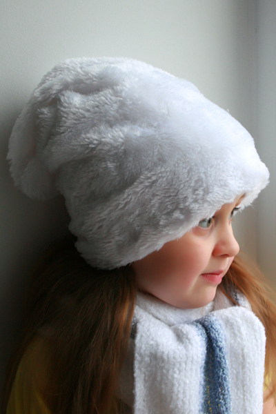 Меховая шапка для девочки сшить